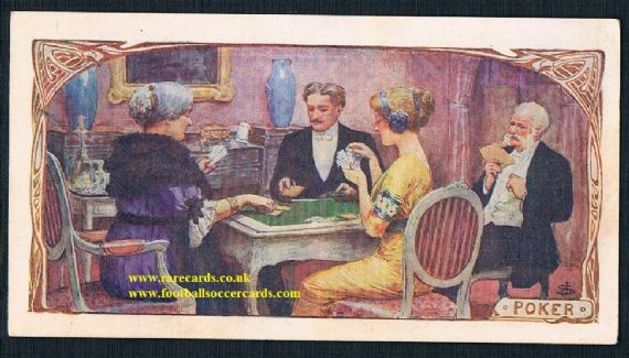 1900s Pelican Rouge poker cards game French trade card